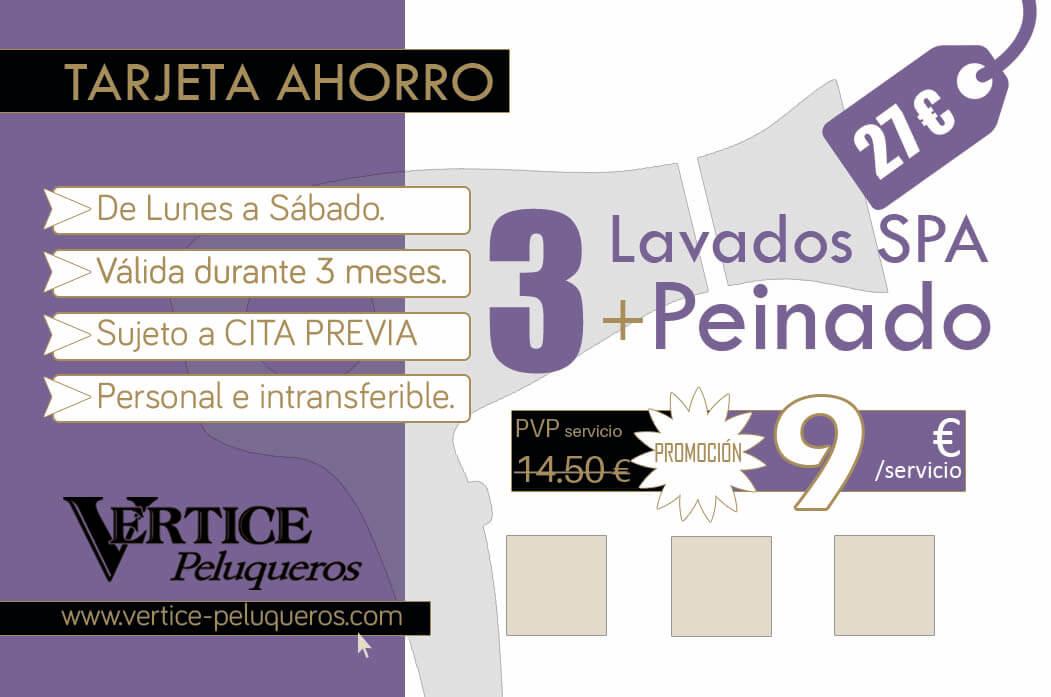 Lavado y Peinado por 8€ - Vértice Peluqueros