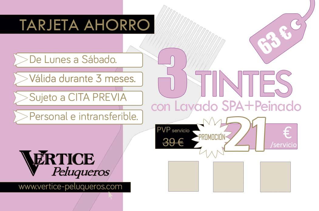 Tinte + Peinado por tan solo 14€. Vértice Peluqueros - Santiago de Compostela